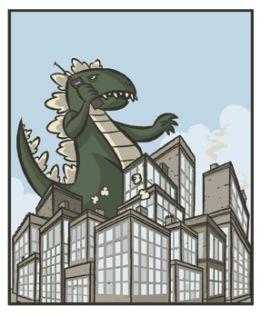 Godzilla in a Traffic Jam