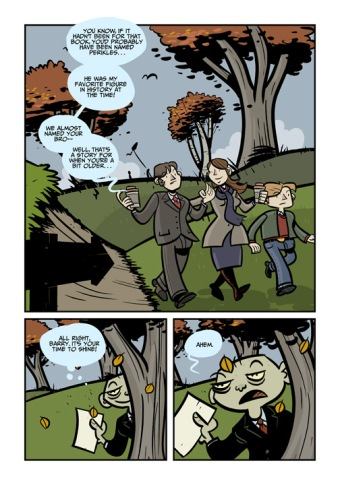 Sample page from the forthcoming graphic novel The Lower Kingdom